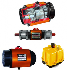 NORBRO Pneumatic and electric Actuators