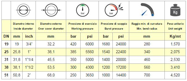 Chart Hose EN 856 4SH