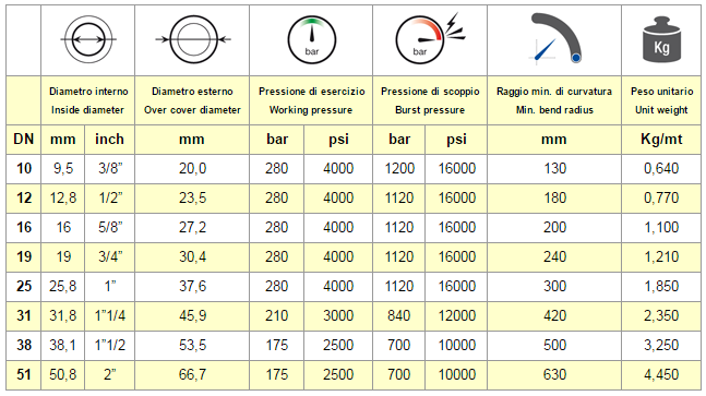 Chart Hose EN 856 R12