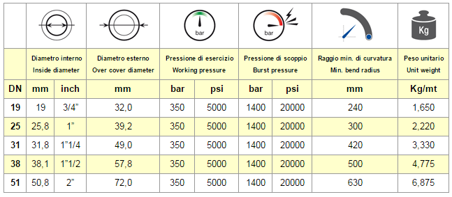 Chart Hose EN 856 R13
