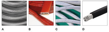 Industrial rubber hoses covering