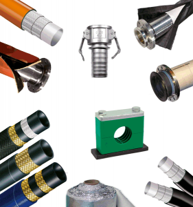 Flexible hoses and industrial fittings